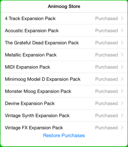 Official Animoog Expansion Packs